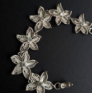 Jewelry - ZIRCON STERLING SILVER FILIGREE SEA STAR BRACELET